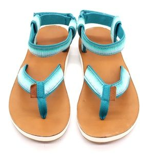 Teva Ombre Thong Platform Ankle Strap Sandal Sz 8